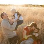 Família mórmon feliz