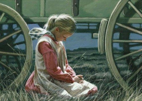 Oração era a fonte da força e da paz para as mulheres pioneiras – cortesia de ldsclipart.com.