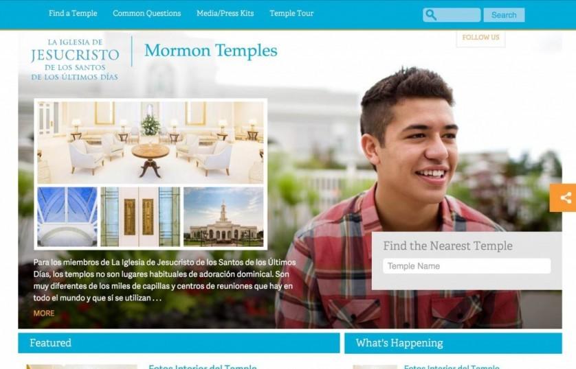 Novo website sobre os Templos Mórmons