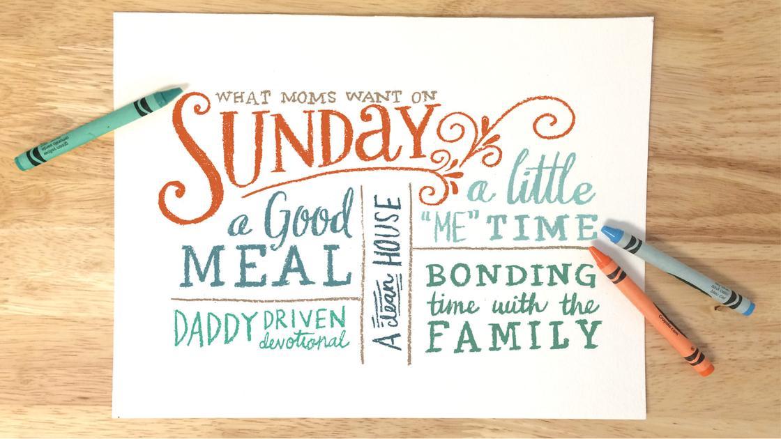 O Sábado Foi Feito Para a Mamãe, e Não a Mamãe Para o Sábado