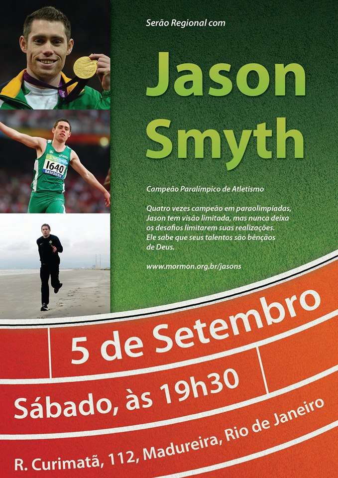 Serão com Atleta Jason Smyth no Rio de Janeiro