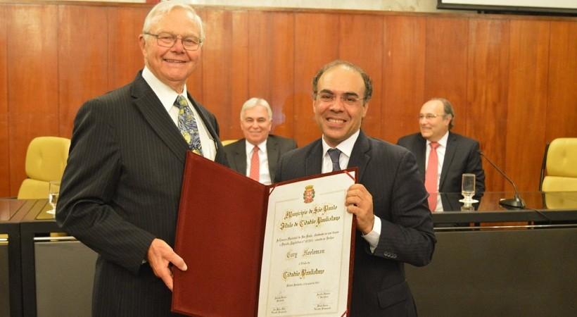 Gary Neeleman Recebe Título de Cidadão Paulistano