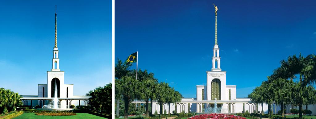 Templo de Sao Paulo - Antes e Depois