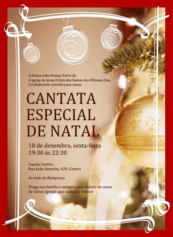 Cantata de Natal acontecerá no dia 18/12 em João Pessoa/PB