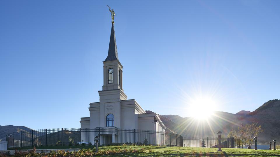 Templo de Star Valley Wyoming nascer do sol