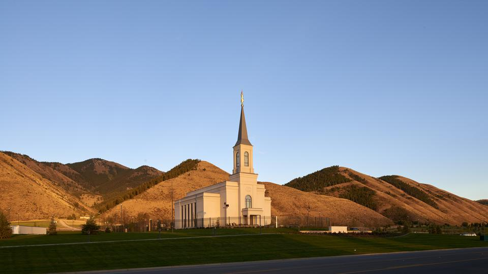Templo de Star Valley Wyoming pôr do sol