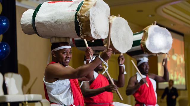 Apresentação cultural tambor