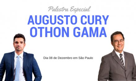 Palestra Especial com Augusto Cury e Othon Gama ocorrerá em São Paulo