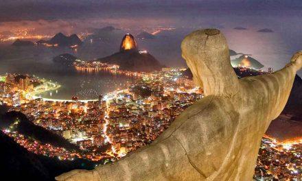Cerimônia de abertura de terra do templo do Rio de Janeiro
