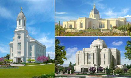 Anúncio da dedicação de 3 templos!