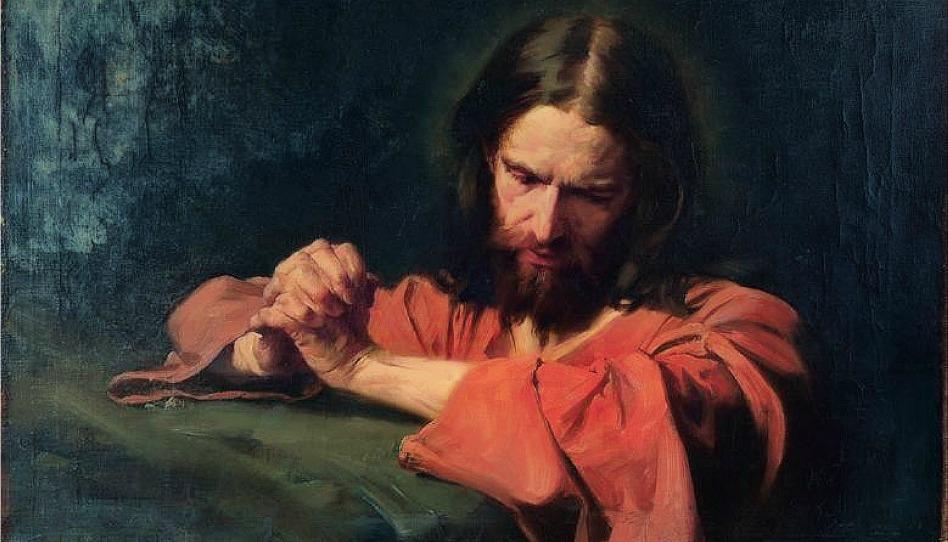 Salvador orando no Getsêmani - nossas orações podem ser como as orações do Salvador