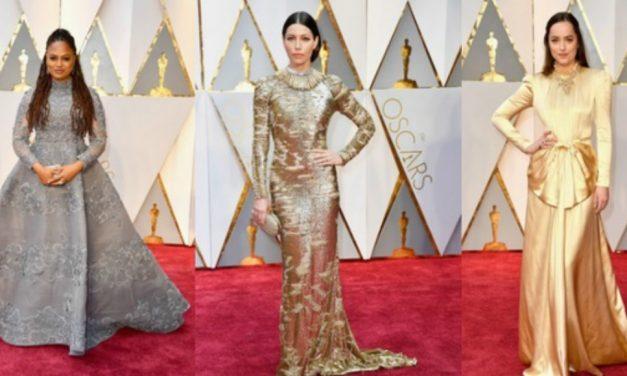Vestidos recatados usados na cerimônia do Oscar 2017