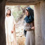 Mensagem de Páscoa - Jesus Cristo ressuscitou - Jesus visitando Maria