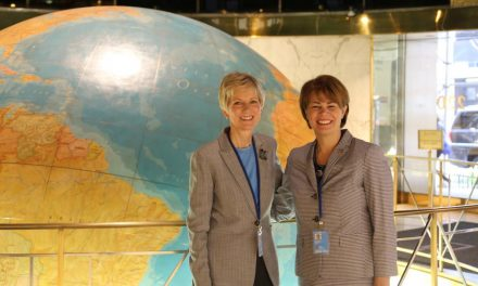 Nova Presidente da Sociedade de Socorro fala na ONU