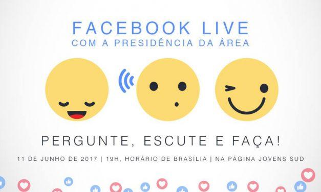 """""""Pergunte, Escute e Faça"""" – Facebook Live com a Presidência de Área"""
