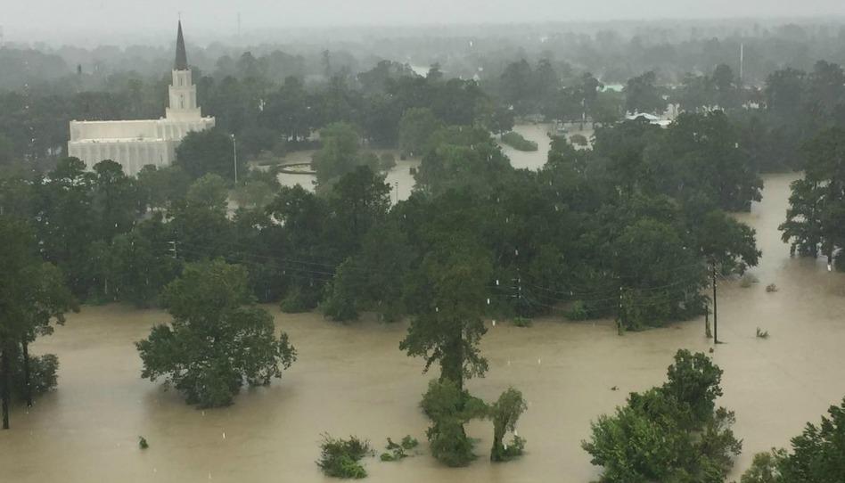 Templo de Houston, Texas, Ameaçado pela Água do Furacão Harvey