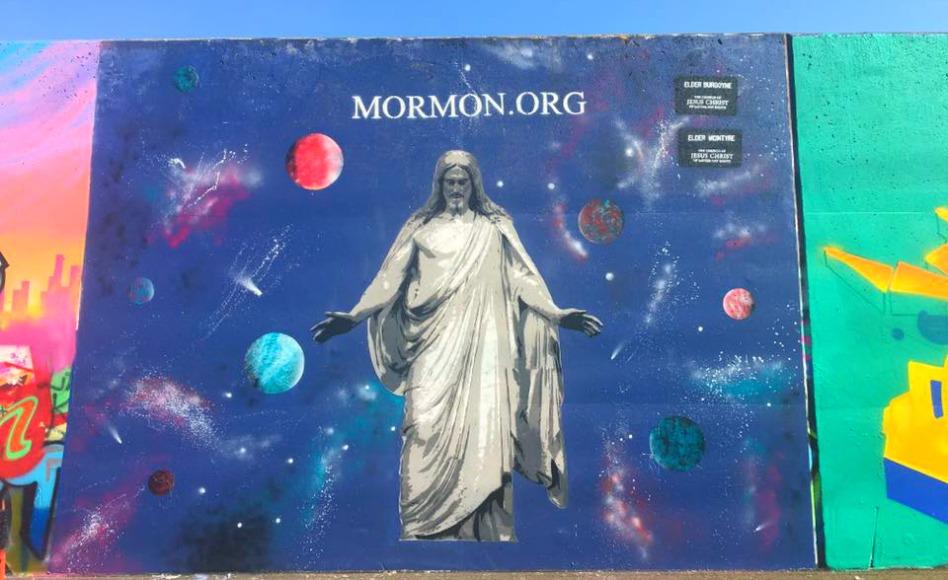 Missionário SUD Compartilha o Evangelho por meio do Grafite