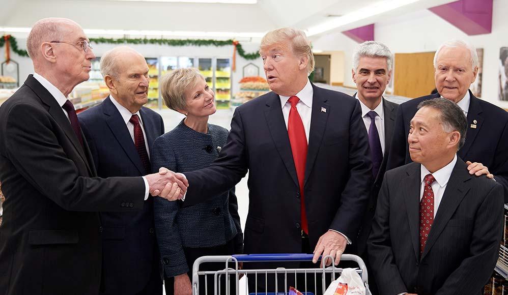 Presidente Donald Trump se Reúne com Líderes da Igreja SUD