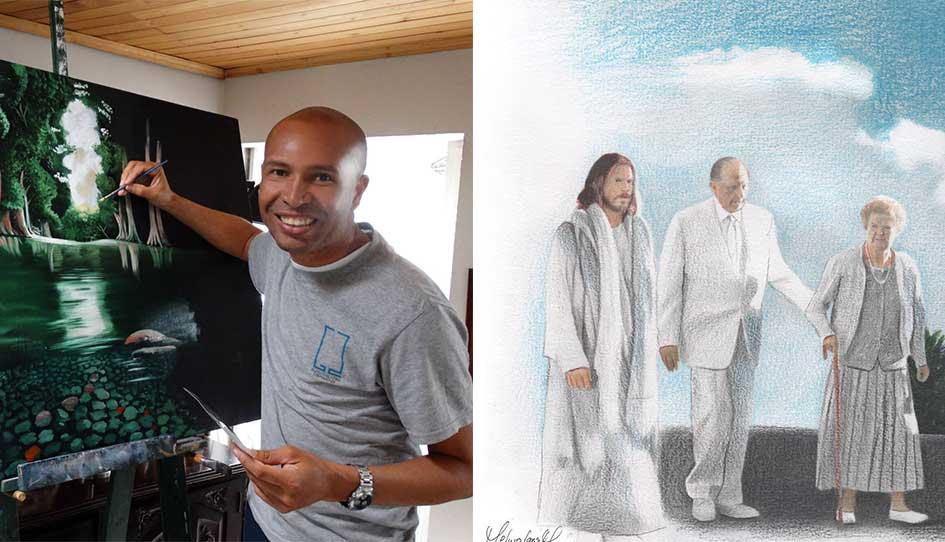 O Artista Colombiano Autor do Desenho Viral do Presidente Monson