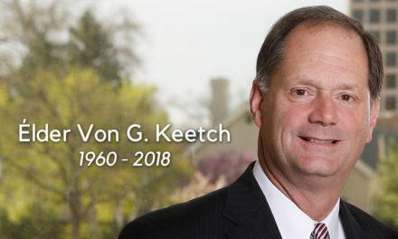 Élder Von G. Keetch falece aos 57 anos