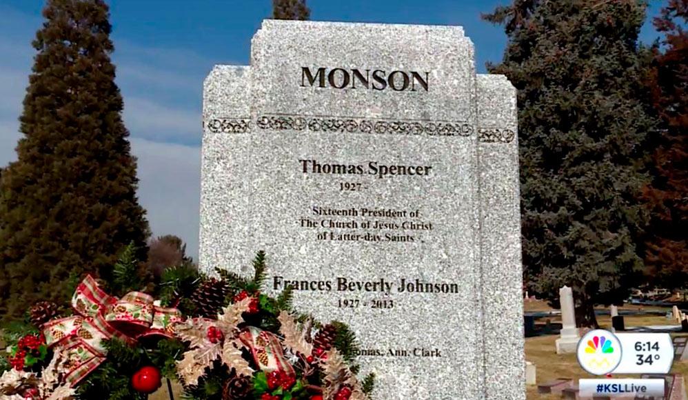 Lápide e Monumento em Memória de Thomas S. Monson e Frances Monson