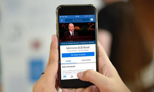 "Conheça o grupo mórmon do Facebook ""Mórmons SUD Brasil"""
