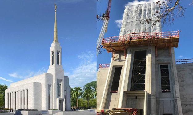 Atualizações sobre a construção do templo de Lisboa, Portugal