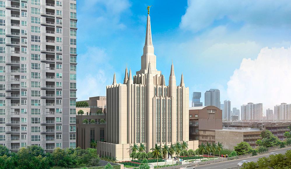 Divulgada a arte do projeto do primeiro templo na Tailândia