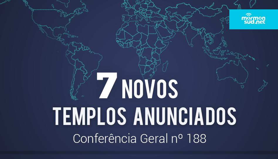 Presidente Nelson Anunciou Sete Novos Templos