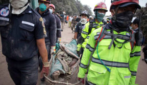 Erupção na guatemala