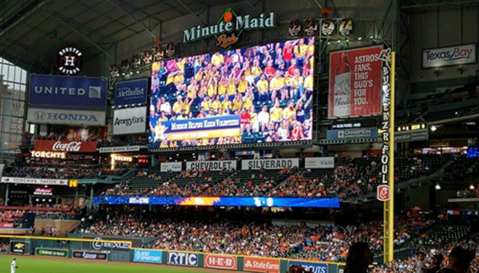O time Houston Astros agradece os mórmons por socorro após furacão