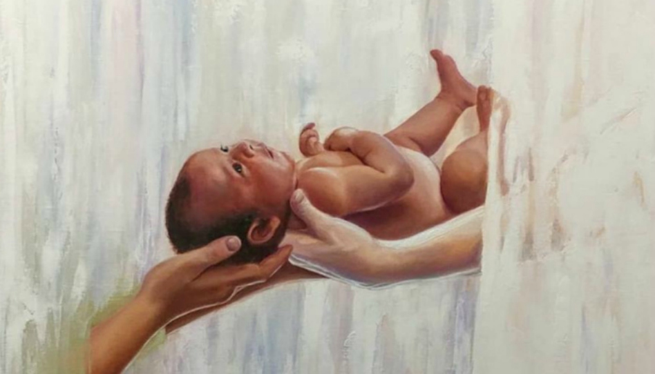 Gravura linda sobre a santidade da maternidade torna-se viral nas mídias sociais