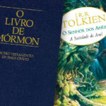 Uma cópia do Livro de Mórmon ao lado de uma cópia de O Senhor dos Anéis