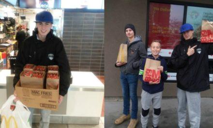Adolescente alimenta milhares com Big Mac e leva alegria neste Natal