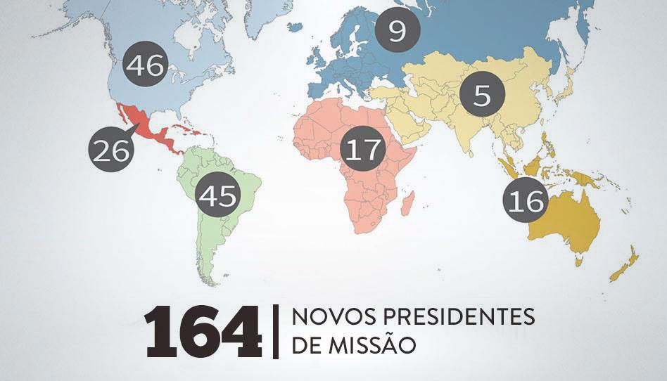 Lista completa dos novos presidentes de missão do Brasil em 2019