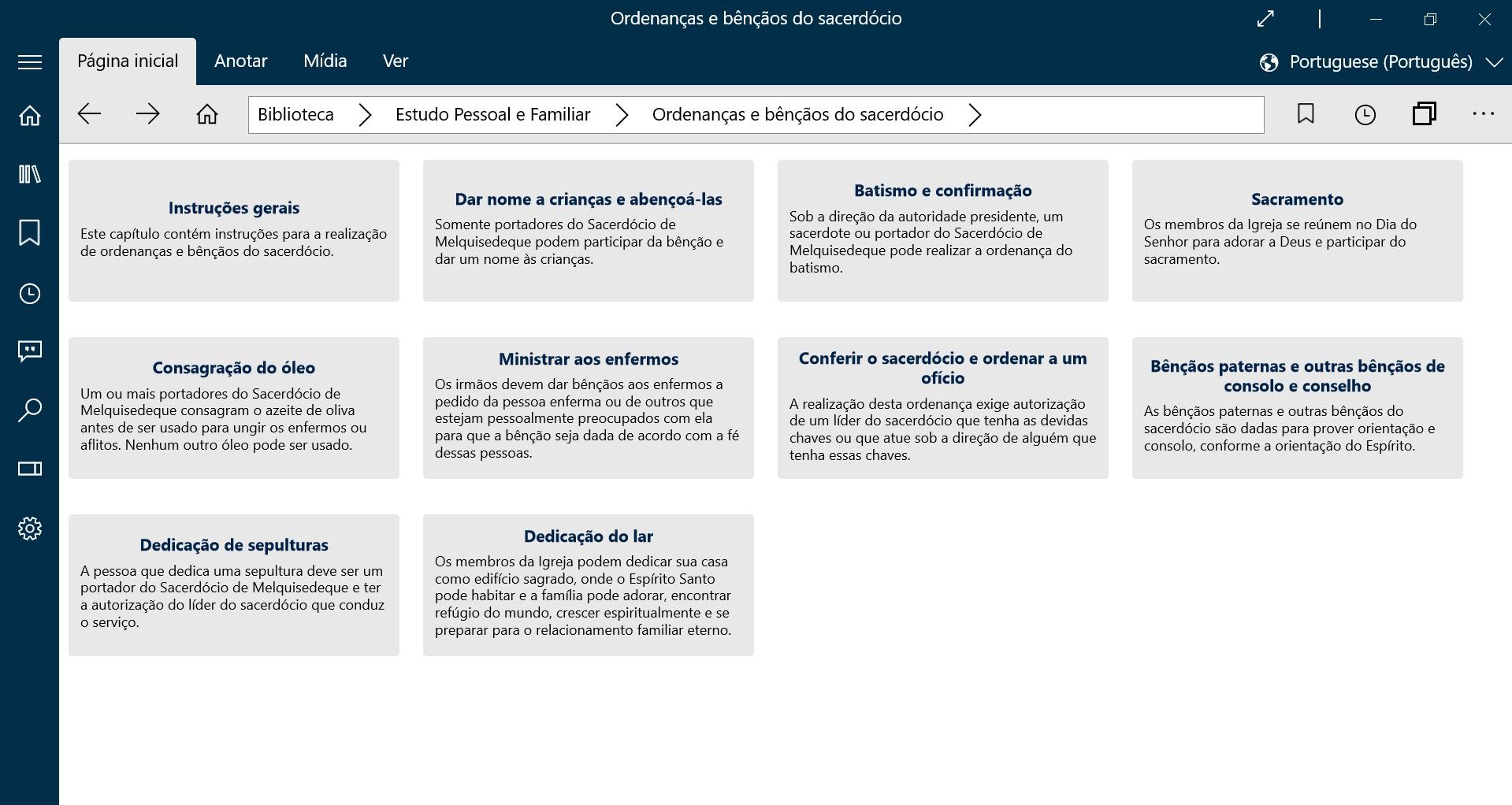 ordenanças do sacerdócio aplicativo biblioteca do evangelho