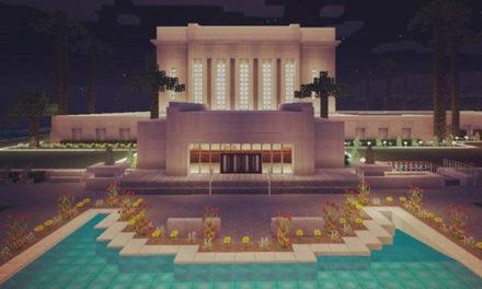 Templos de A Igreja de Jesus Cristo construídos no Minecraft