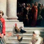 quadro de Pedro negando conhecer Jesus Cristo