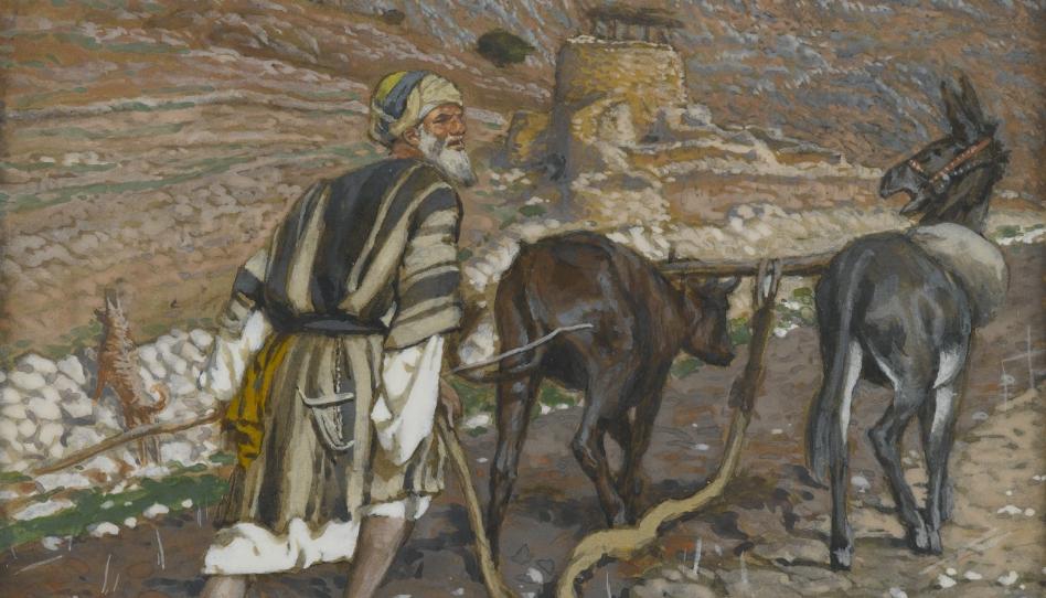 O que significa olhar para trás depois de lançar mão do arado?