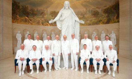 Foto histórica do Profeta e dos Apóstolos simboliza seu testemunho de Jesus Cristo