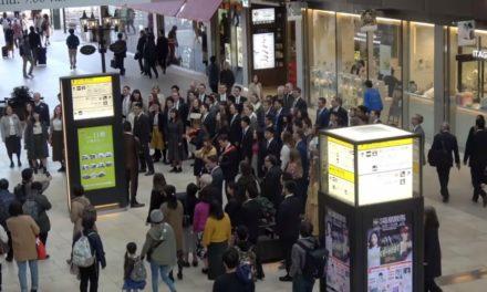 Vídeo: quase 100 missionários fazem flash mob em estação de trem do Japão