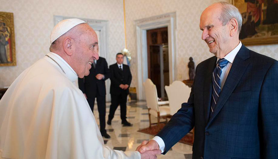 Presidente Nelson e Papa Francisco se encontram no Vaticano
