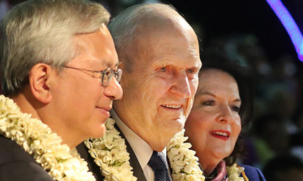 Pres. Nelson conclui sua viagem de ministração no Pacífico