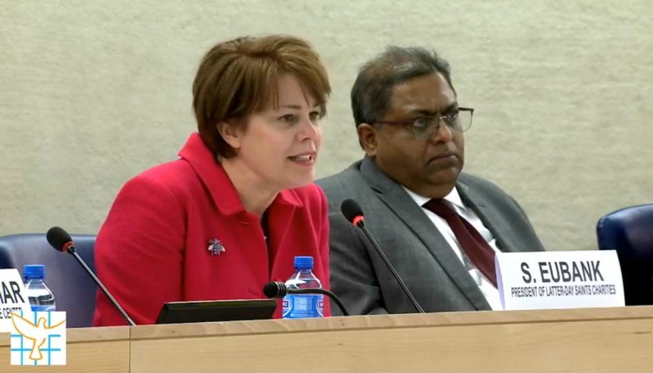 Irmã Eubank cita Joseph Smith na Conferência da ONU em Genebra