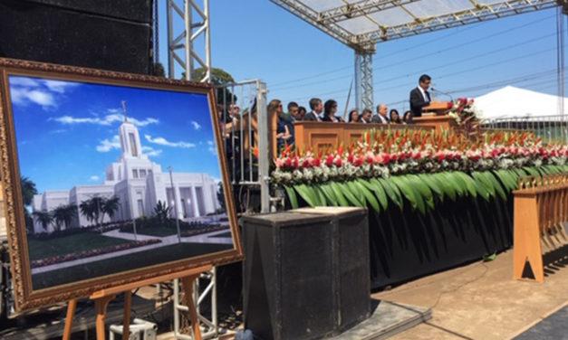 Confira como foi a abertura de terra do templo de Belém