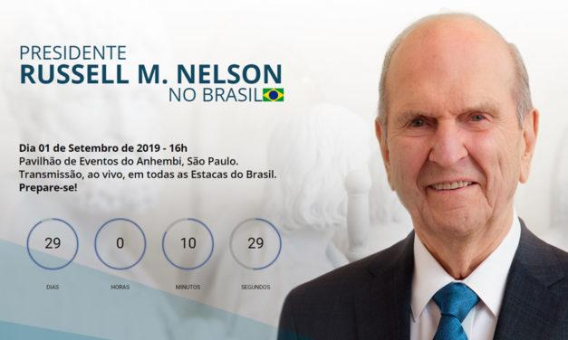 Confira o site oficial da visita do Presidente Russell M. Nelson no Brasil