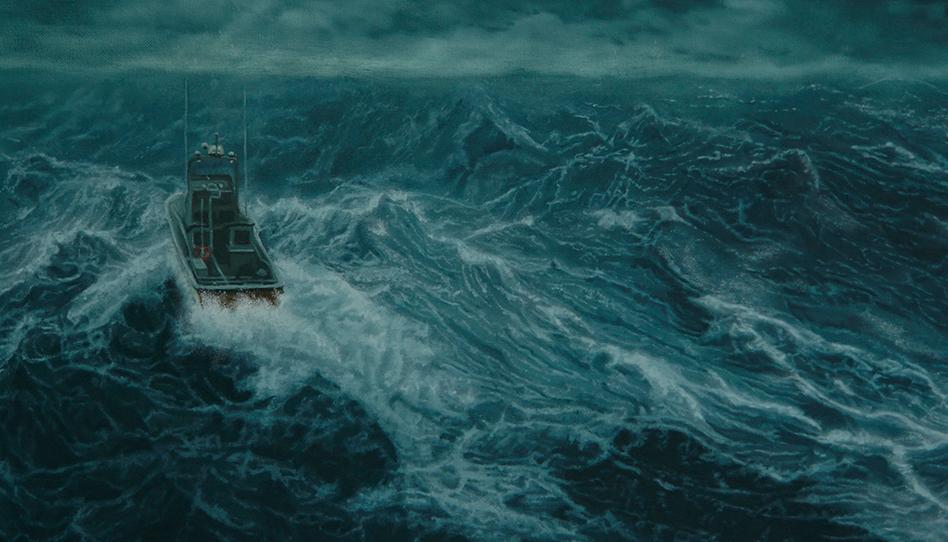 A voz que ajudou um presidente de missão durante uma perigosa tempestade