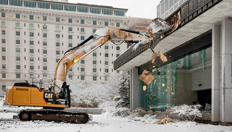 Renovação do Templo de Salt Lake Demolições começam pelo Centro de Visitantes Sul