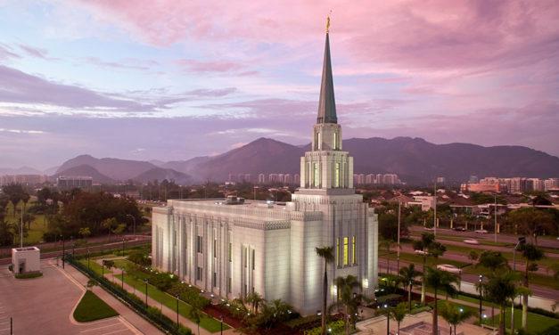 Anunciada a dedicação do templo do Rio de Janeiro