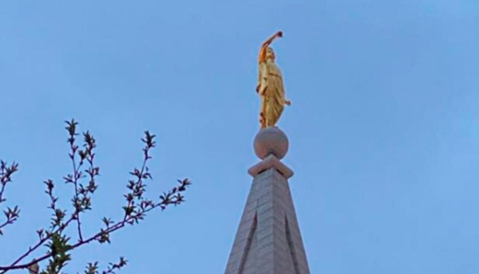 Trombeta da estátua do anjo Morôni cai por causa de terremoto em Salt Lake